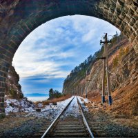 Самый короткий тоннель КБЖД :: Анатолий Иргл