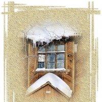 Окно старого дома :: Людмила Фил