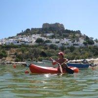 Греция. Линдос. На фоне Акрополя. :: Лариса (Phinikia) Двойникова