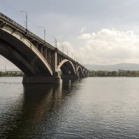 Коммунальный мост через Енисей :: Виктория Большагина