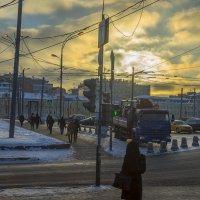 Москва, Площадь Белорусского вокзала. Морозный восход. :: Игорь Герман