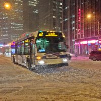 Снег  метет по  Монхетану ! :: Виталий Селиванов