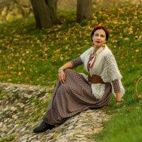 Осенний портрет на берегу пруда :: Сергей Мягченков
