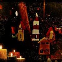 Вечерний Гамбург перед Рождеством (серия). Свечи и домики для птиц :: Nina Yudicheva