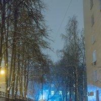 Снегопад в Москве. 1-я Парковая улица. :: Игорь Герман