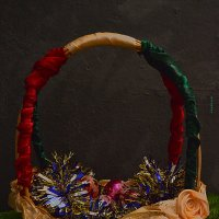 зимняя корзинка счастья-предновогодняя :: Роза Бара