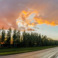 дорога на закате :: Илья Остроградский
