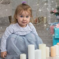 Малышка со свечами :: Ксения Черногорова