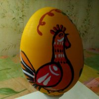 Моя роспись Новогоднего петушка. (темперные краски). :: Светлана Калмыкова