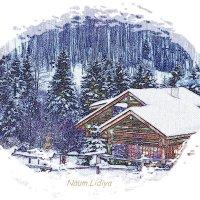 Домик в лесу,карандашный набросок :: Лидия (naum.lidiya)
