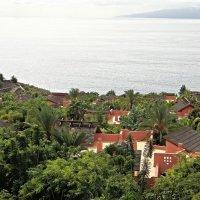 Вид на Атлантический океан и комплекс вилл  отеля Abama Golf & Spa Resort 5* :: Елена Павлова (Смолова)