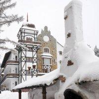 Дровяная печь во дворе дома :: Сергей Тагиров