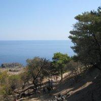 Греция. Линдос. На осликах к древнему Акрополю. :: Лариса (Phinikia) Двойникова