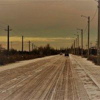 Первый снег на Арабатской стрелке :: Денис Стеценко