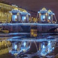 Петербург, мост Ломоносова в новогоднем убранстве. :: Наталья Иванова