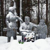 Деревня Бетково Лужского района. Памятник партизанам и подпольщикам :: Елена Павлова (Смолова)