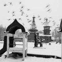 Непогода в городке :: Анатолий Тимофеев