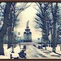 Зима на Владимирской горке в г. Киеве :: Владимир Бровко