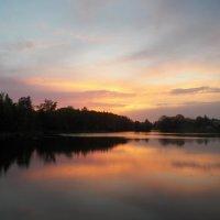 Плывёт по озеру закат... :: Регина Пупач
