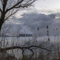 Зимний вечер на Нововоронежском водохранилище :: Юрий Клишин
