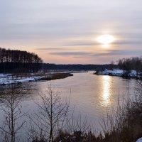 Зимний закат на Осколе. :: Ольга Голубева