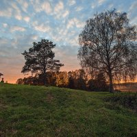 Пейзаж с закатом :: Александр Кафтанов