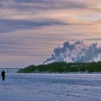 Морозный рассвет на  Волге :: Николай Белавин