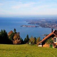 Вид с Австрийской горы на остров Линдау :: Kapris VS
