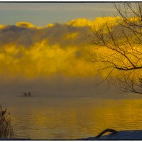 Зимний вечер на водохранилище 2014 :: Юрий Клишин