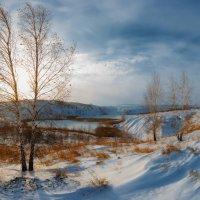 Закат над зимним озером. :: Sven Rok