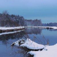 Опустился зимний вечер над рекой :: Павлова Татьяна Павлова