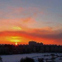 Зимний закат в Птербурге :: GalLinna Ерошенко