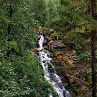 Карелия. Водопад Юконкоски в малую воду. :: Владимир Ильич Батарин