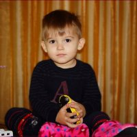 Мальчик с машинкой. :: Anatol Livtsov