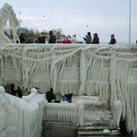 Пирс в Зеленоградске после январского шторма :: Elena N