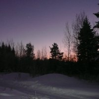 Зимний закат. :: Виктор