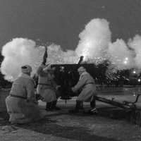 Победный салют на Марсовом поле 1944 г :: Михаил Сергеевич Карузин