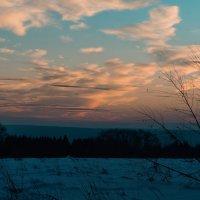 Закат на мороз в холодный вечер :: Владимир Максимов