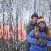 Закат в лесу :: Сергей