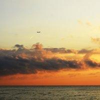 Самолет...Закат...Красота... :: Дмитрий Петренко