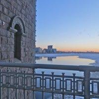 закат с Большеохтинского моста :: Елена