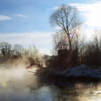 А на речке туман... :: Елизавета