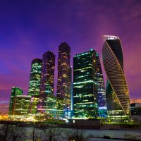 закат над Москва-Сити :: Юрий Лобачев