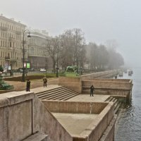туман на Адмиралтейской набережной :: Елена