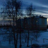 Февральское ветряное утро :: Анатолий Клепешнёв