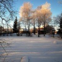 Домик у замёрзшего пруда :: Дмитрий Строганов
