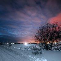 Зимний вечер на Волге :: Татьяна Афиногенова