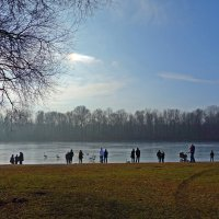 Февраль..У озера... :: Galina Dzubina