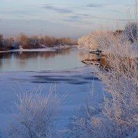 Зимний вечер на затоне :: Екатерина Торганская