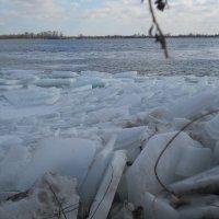 Ледяные торосы на Днепре. :: Галина